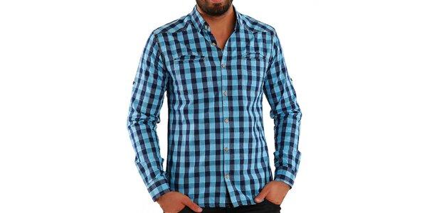Pánska modro kockovaná košeľa Premium Company