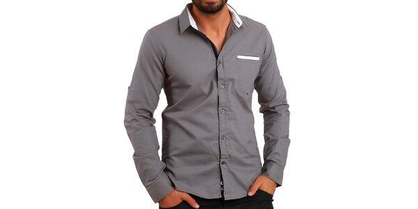 Pánska šedá košeľa Premium Company