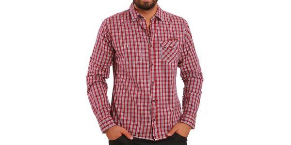 Pánska košeľa s červenými kockami Premium Company