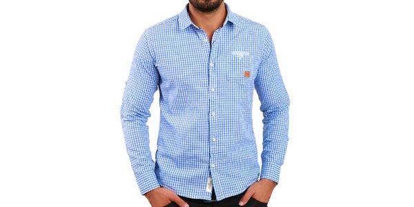 Pánska modro vzorovaná košeľa Premium Company