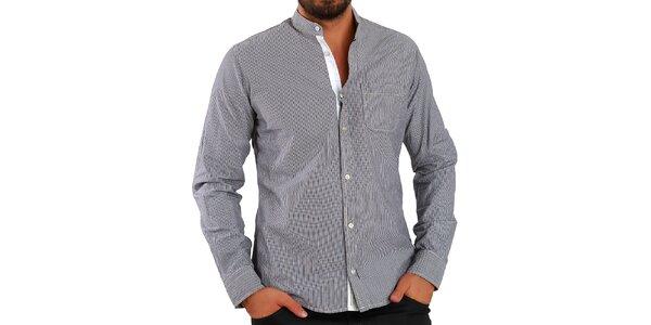 Pánska hnedo prúžkovaná košeľa Premium Company