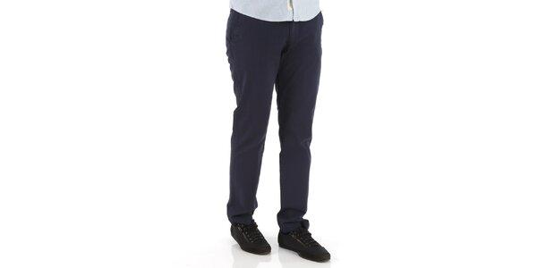 Pánske tmavo modré nohavice Premium Company