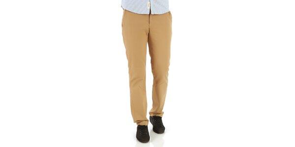 Pánske svetlo hnedé nohavice Premium Company