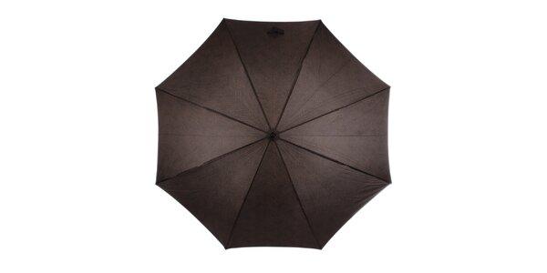 Pánsky hnedý dáždnik s nápismi Ferré Milano