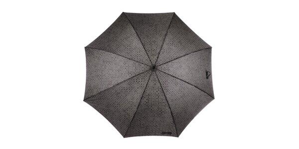 Pánsky šedo-hnedý dáždnik so vzorom Ferré Milano