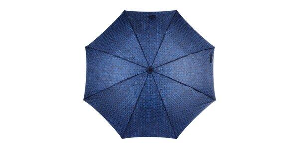 Pánsky modrý dáždnik so vzorom Ferré Milano