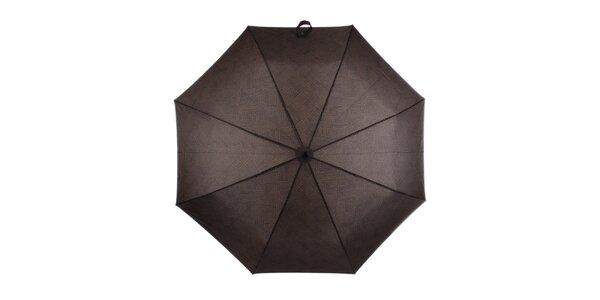 Pánsky skladací dáždnik s nápismi Ferré Milano