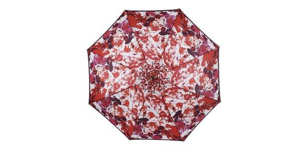 Dámsky dáždnik s farebnými kvetmi Ferré Milano