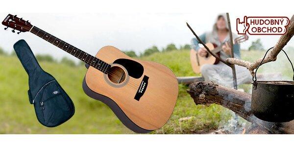 Akustická gitara s puzdrom