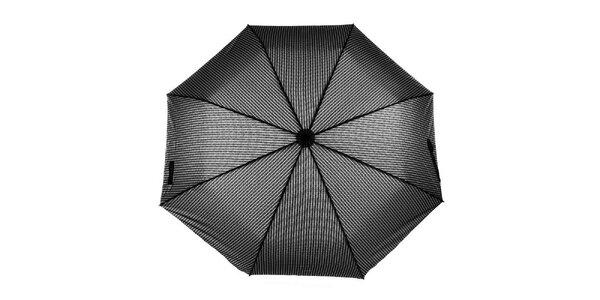 Pánsky vystreľovací dáždnik so šedým vzorom Ferré Milano
