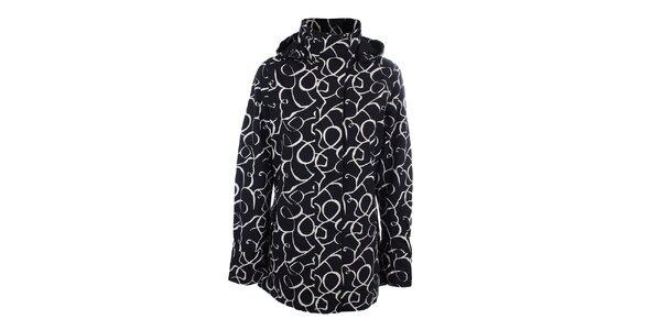 Dámska čierno-biela vzorovaná bunda do dažďa Happy Rainy Days