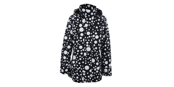 Dámska čierna bodkovaná bunda do dažďa Happy Rainy Days