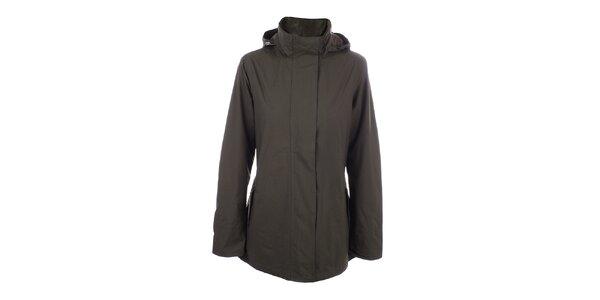 Dámska hnedá jednoduchá bunda do dažďa Happy Rainy Days