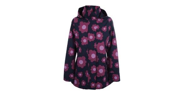 Dámska modro-ružová bunda do dažďa Happy Rainy Days