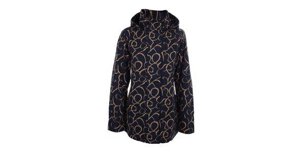 Dámska modro-béžová bunda do dažďa Happy Rainy Days