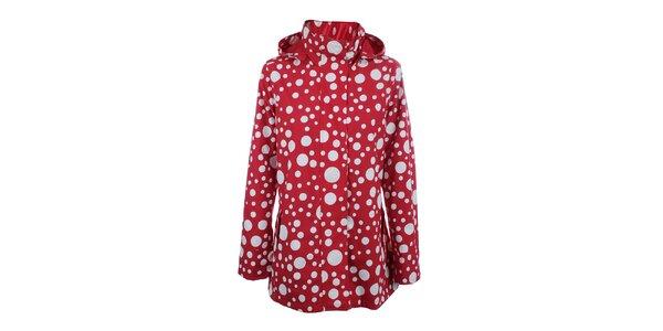 Dámska červeno-biela bunda do dažďa Happy Rainy Days