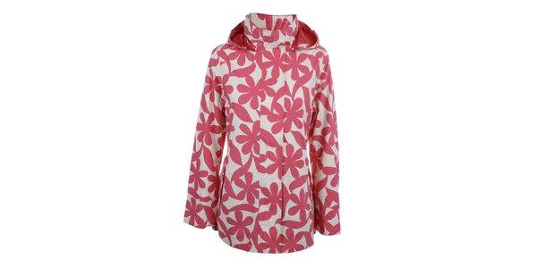 Dámska ružová kvetinová bunda do dažďa Happy Rainy Days