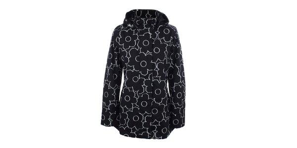 Dámska čierno-biela bunda do dažďa Happy Rainy Days