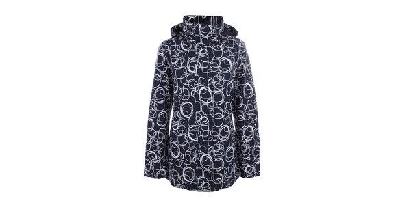 Dámska modrá vzorovaná bunda do dažďa Happy Rainy Days