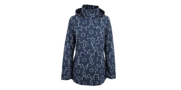 Dámska modrá kvetinová bunda do dažďa Happy Rainy Days