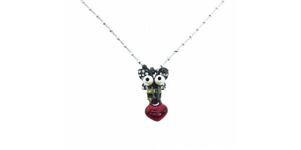 Dámsky oceľový náhrdelník Guess s príveskom
