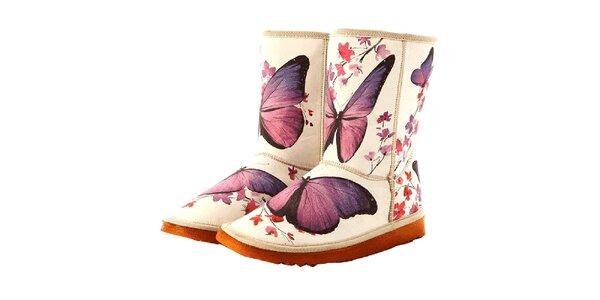 Dámske čižmy s motýlikmi Elite Goby