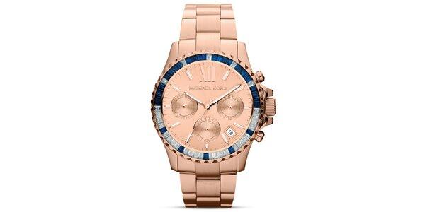 Dámske analógové hodinky vo farbe ružového zlata Michael Kors