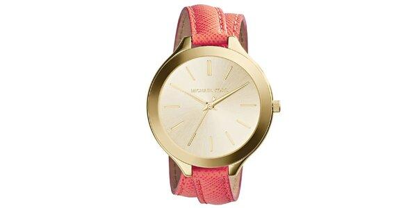 Dámske analógové hodinky s prekríženým remienkom Michael Kors