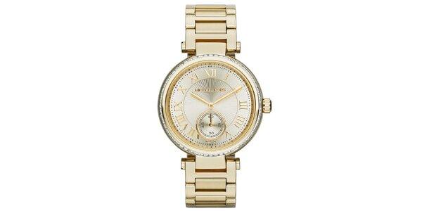 Dámske pozlátené hodinky s rímskymi číslicami Michael Kors