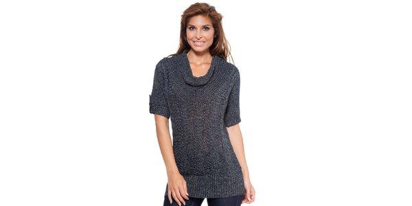 Dámsky antracitový sveter s krátkym rukávom Janis