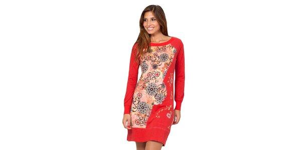 Dámske ružové šaty s kvetinovým vzorom Janis