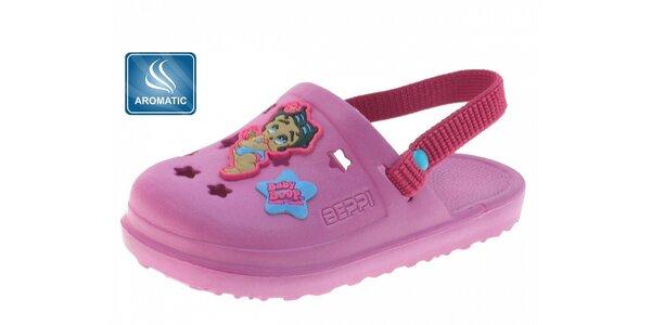 Detské ružové gumové dreváky Beppi