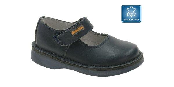 Detské čierne kožené topánky Beppi
