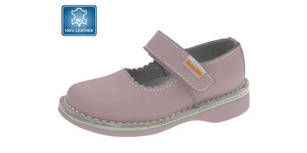Detské ružové kožené topánky Beppi