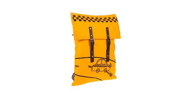 Žltý batôžtek s taxíkom The Bees