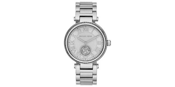 Dámske oceľové hodinky s rímskymi číslicami Michael Kors