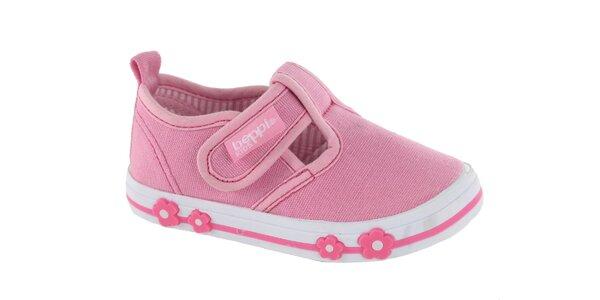 Detské ružové plátené tenisky Beppi