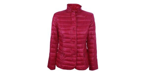 Dámska červená prešívaná bunda so stojačikom DJ85°C