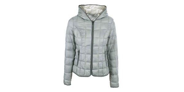 Dámska šedá prešívaná bunda so stojačikom DJ85°C