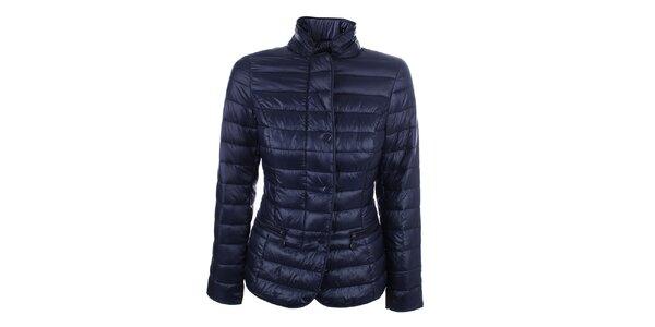 Dámska modrá prešívaná bunda so stojačikom DJ85°C