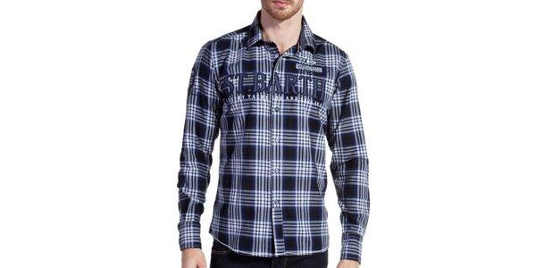 Pánska modro kockovaná košeľa Galvanni