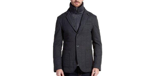 Pánsky šedý kabátik Galvanni