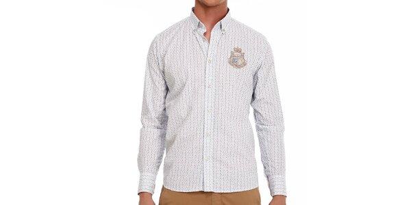 Pánska vzorovaná bavlnená košeľa Galvanni
