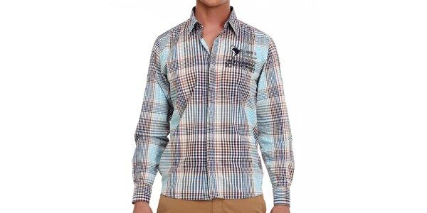 Pánska farebne kockovaná košeľa Galvanni
