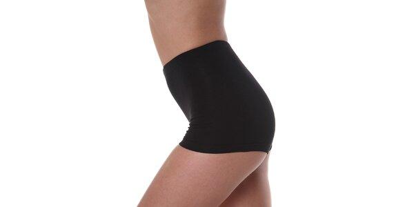 Dámske čierne nohavičky s vyšším pásom Slimtess