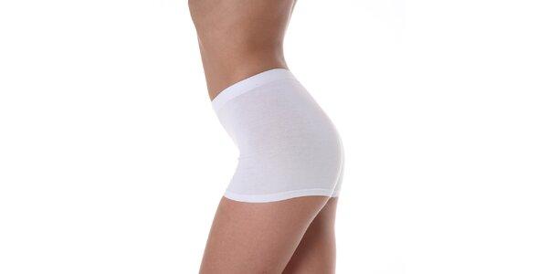 Dámske biele nohavičky s vyšším pásom Slimtess