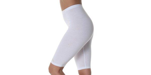 Dámske biele zoštíhlujúce krátke nohavice Slimtess
