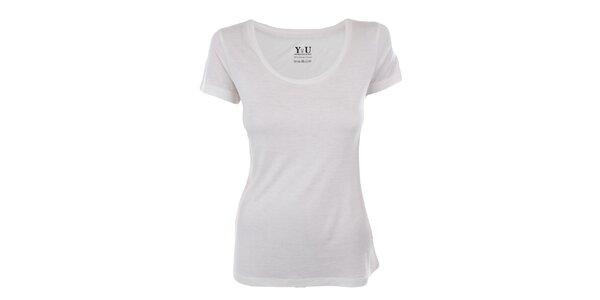 Dámske biele tričko s krátkym rukávom YU Feelwear