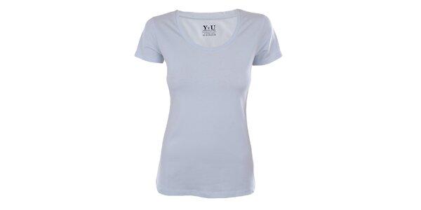Dámske svetlo modré tričko s krátkym rukávom YU Feelwear