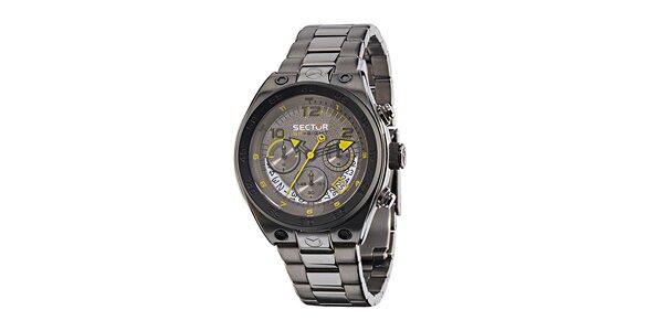 Pánske oceľovo šedé hodinky Sector